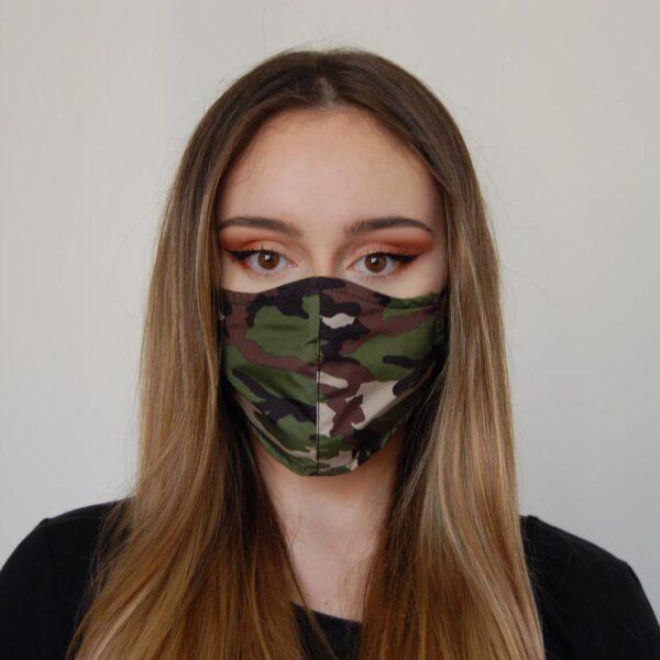 Reveil mascherina camouflage